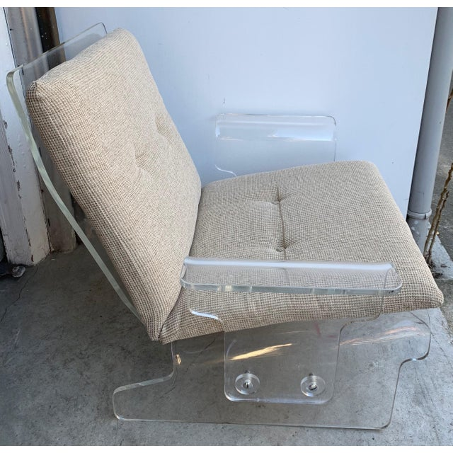 Pair of Lucite Armchairs by Baumann, Germany, 1970s For Sale - Image 11 of 13