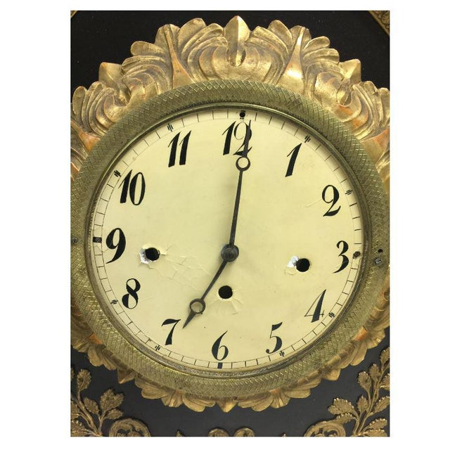 19th Century French Gilt Wall Clock in Shadow Box For Sale - Image 10 of 13