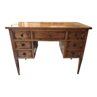 19th Century Traditional Brass Mounted Fruitwood Writing Desk For Sale