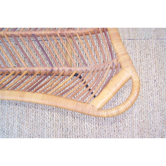 1960s Rattan, Iron & Glass Coffee Table - Image 8 of 10