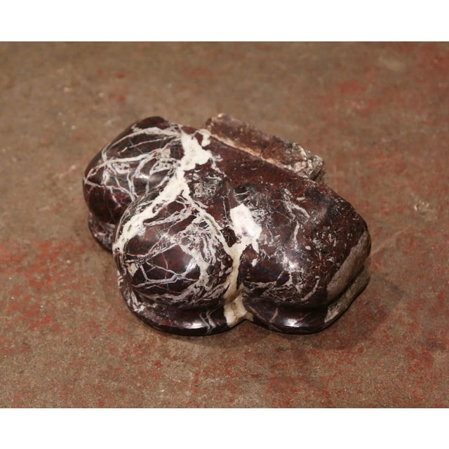 Mid-18th Century French Carved Black Red and Grey Marble Shell Stoup For Sale In Dallas - Image 6 of 7