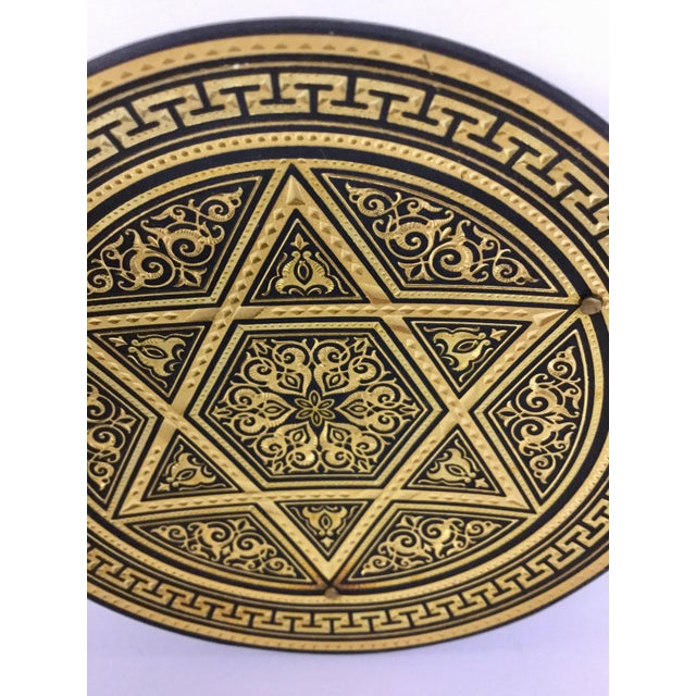 Boho Chic Hand Carved Judicial Mini Tray For Sale - Image 3 of 11