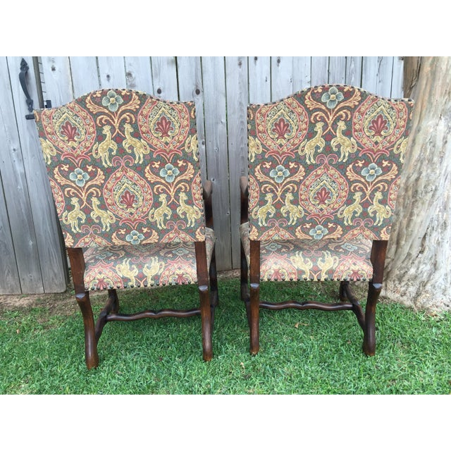 """Oak 19th Century French Solid Oak """"Os De Mouton"""" Chairs - A Pair For Sale - Image 7 of 8"""