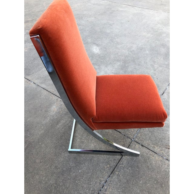 Mid-Century Modern Milo Baughman Chrome Z Dining Chairs for Design Institute of America - Set of 6 For Sale - Image 3 of 12
