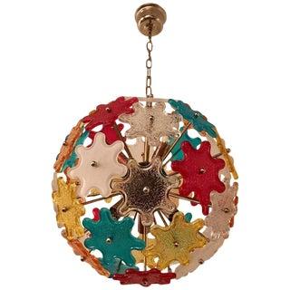 1960s Italian Murano Glass Colored Pendant For Sale