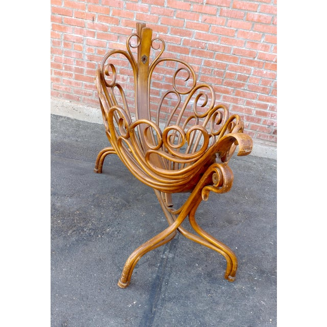 "19th century beautiful curvy swinging baby Cradle size 55w x 25d x 45""h"