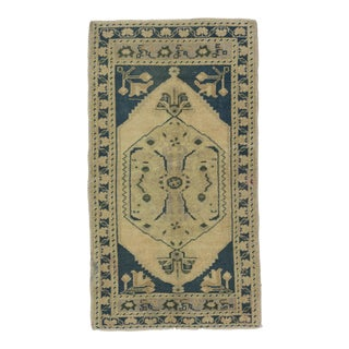1960s Turkish Washed Out Mini Rug For Sale