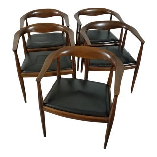 French Mid-Century Dining Chairs - Set of 5