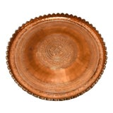 Image of Indo Persian Tinned Copper Hanging Decorative Tray For Sale
