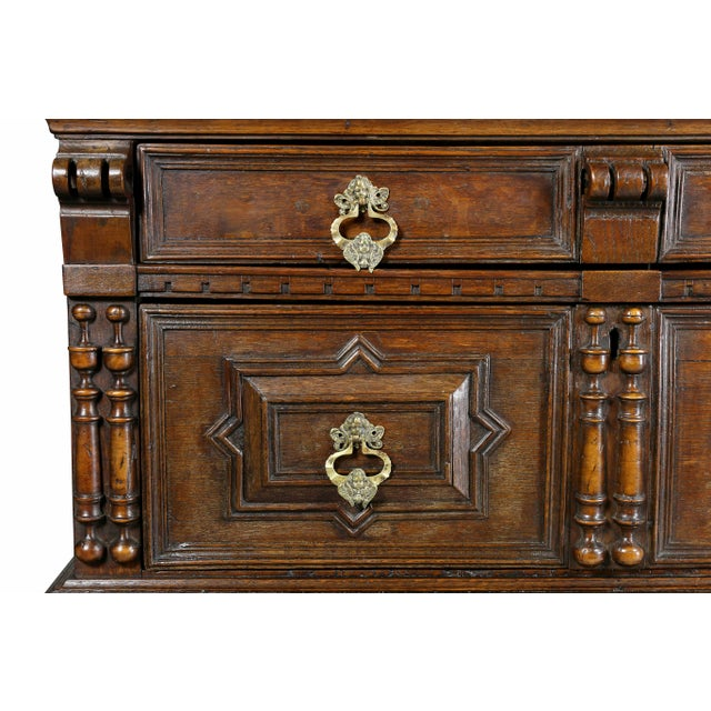 Jacobean Oak Chest of Drawers For Sale - Image 4 of 12