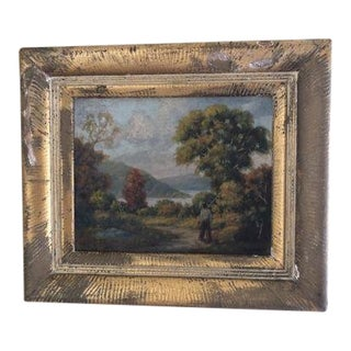 Early 20th Century American Oil on Canvas Landscape Painting