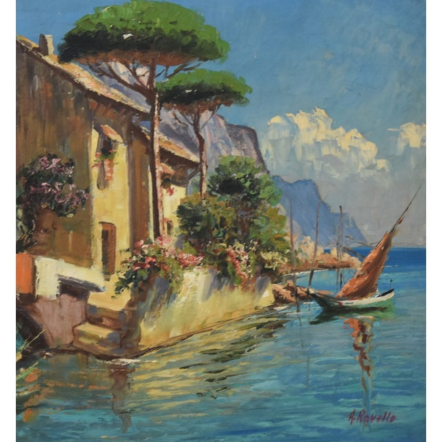 Midcentury Italian Mediterranean Lake & Village by A. Ravello For Sale In Los Angeles - Image 6 of 10