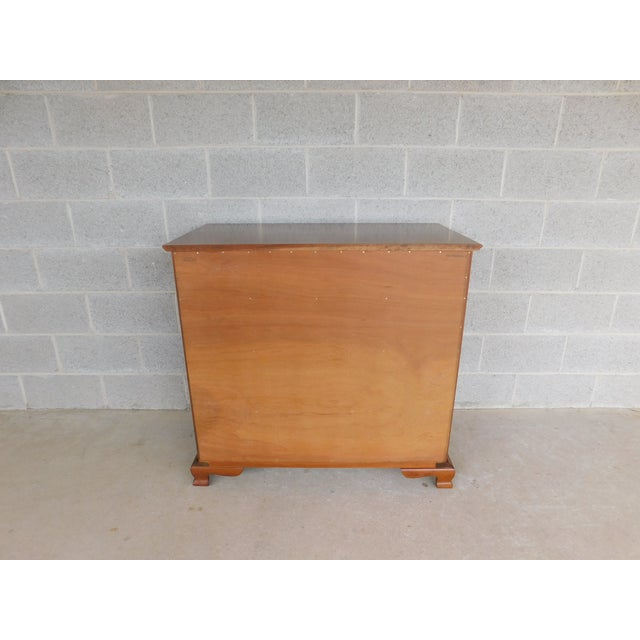 "Brown L & J G Stickley Cherry Valley Chippendale Style 5 Drawer Chest 38""w For Sale - Image 8 of 10"