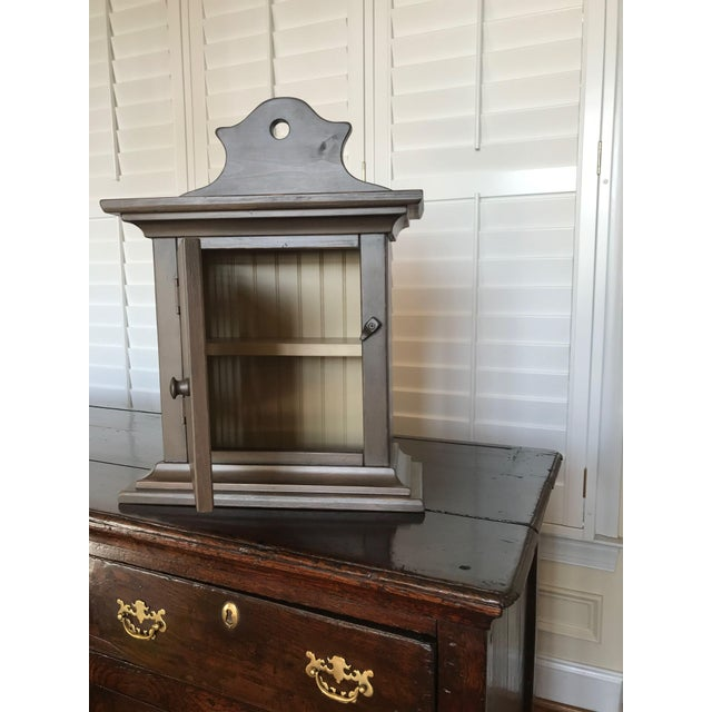 Traditional Taupe Wall Display Cabinet For Sale - Image 3 of 10