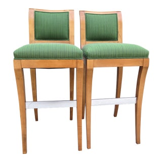 Nancy Corzine Bar Stools - a Pair For Sale