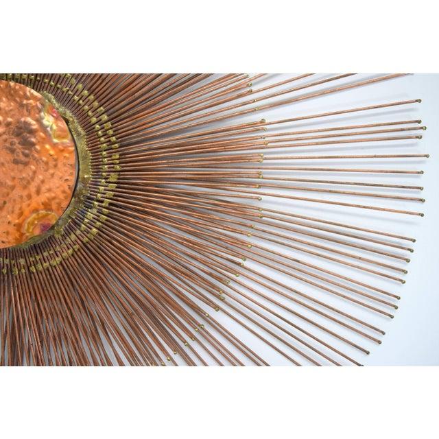Mid-Century Modern Curtis Jere Copper Rod Sunburst Wall Sculpture For Sale - Image 3 of 8