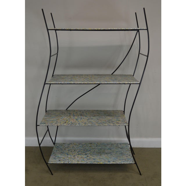 Mid-Century Modern Whimsical Mid Century Modern Iron Etagere Display Rack For Sale - Image 3 of 12