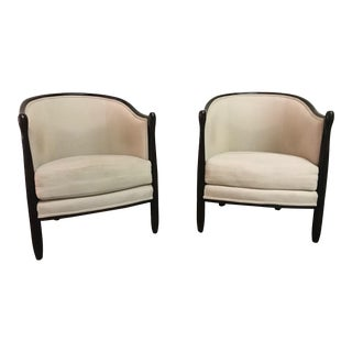Late 20th Century Vintage Lounge Chairs - A Pair For Sale