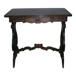 1950 Rustic French Oak Side Table