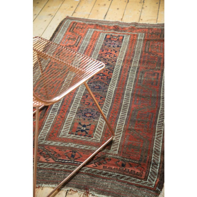 "Textile Antique Belouch Rug Runner - 3' x 5'8"" For Sale - Image 7 of 9"