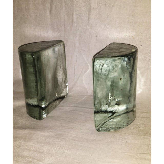 Vintage Glass Ice Block Bookends - A Pair - Image 2 of 6