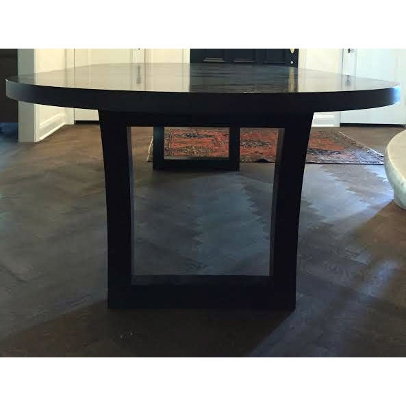 Extendable Dark Walnut Dining Table - Image 4 of 8
