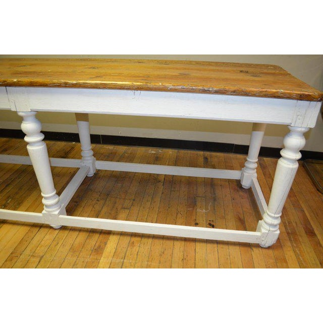 Paint Kitchen Island Restaurant Prep From Rectory Table 100 Years Old. Ships Free. For Sale - Image 7 of 11