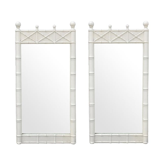 Regency Faux Bamboo Mirrors by Omega - A Pair - Image 2 of 2