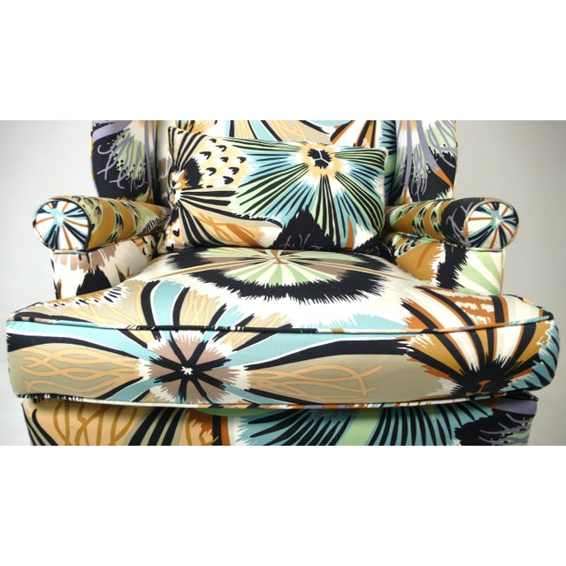 1960s 1960s Missoni Wingback Chair For Sale - Image 5 of 7