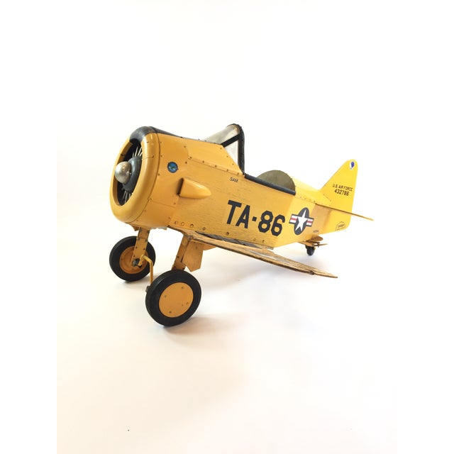Handmade Fighter Plane Pedal Car For Sale - Image 11 of 11