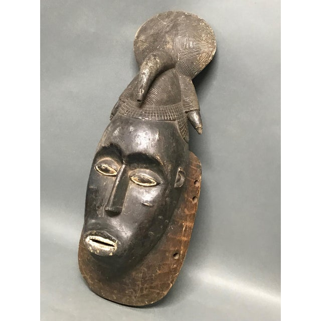 African art, tribal art Baule Mask from Ivory Coast. Made of wood. Very good and excellent condition.