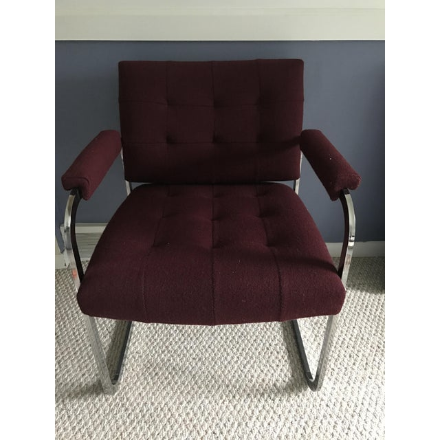 Mid-Century Modern Milo Baughman Style Chrome Armchair by Patrician For Sale - Image 3 of 9
