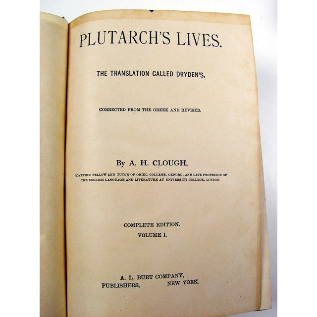 1900 Plutarch's Lives Books- A Pair - Image 5 of 5