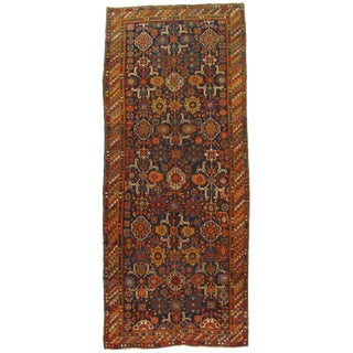 Late 19th Century Antique Russian Caucasian Lambswool Rug - 5′6″ × 13′1″ For Sale