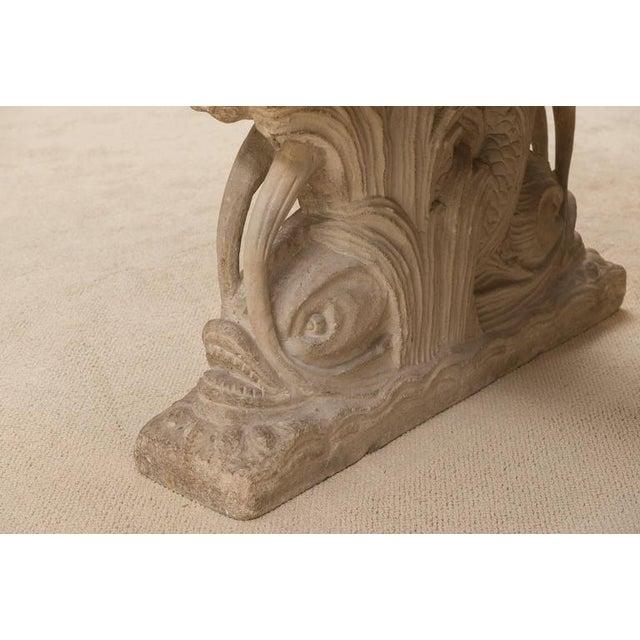 Paper Maison Jansen Dolphin Motif Table For Sale - Image 7 of 13