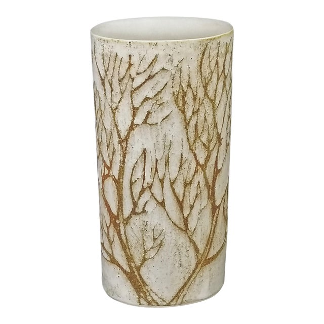 1960s Vintage Andersen Design Art Studio Ceramic Pottery Tree Vase