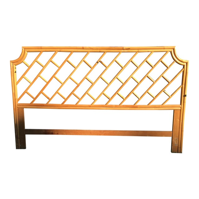 Vintage Authentic Bamboo King Headboard For Sale