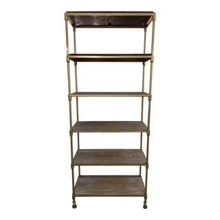 Restoration Hardware Dutch Industrial Rolling Shelves For Sale