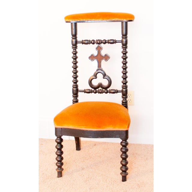 19th Century French Napoleon III Second Empire Prie-Dieu Prayer Chair For Sale - Image 9 of 9