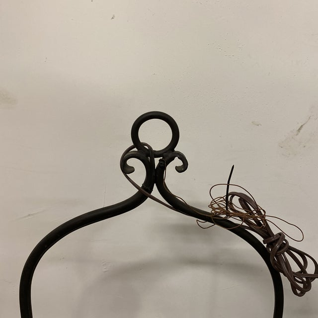 Vintage Mid-Century Copper Lantern With Yoke For Sale - Image 4 of 6