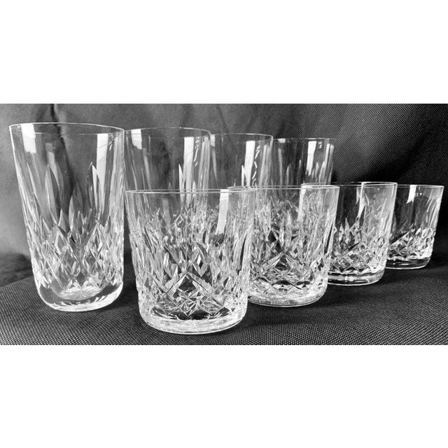 """Transparent Waterford""""Lismore"""" Pattern Highball/Tumbler Glasses - Set of 4 For Sale - Image 8 of 11"""