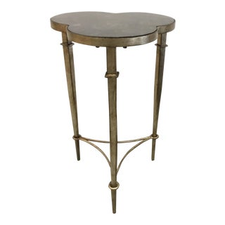 Modern Mother of Pearl Clover Accent Table For Sale