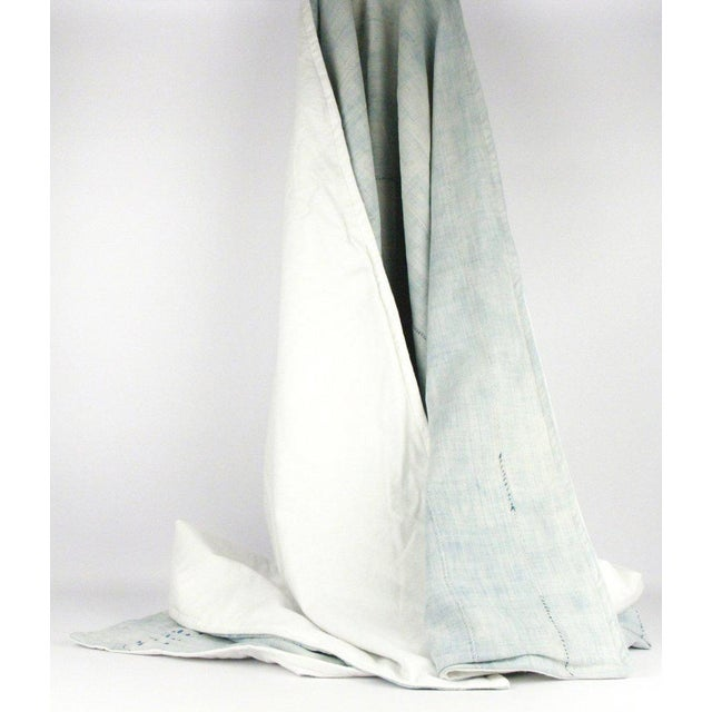 Light Blue Mudcloth Throw Blanket - Image 2 of 5
