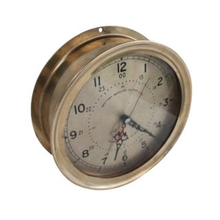 1940´s Nautical Round Solid Brass Wall Clock