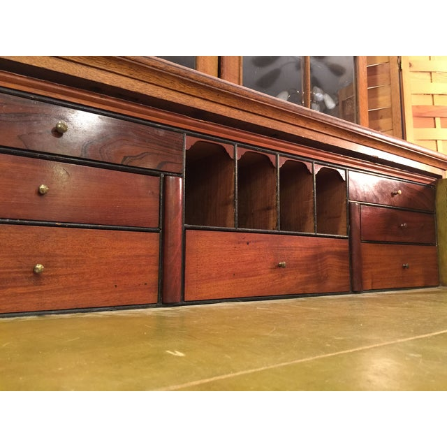 Period English Oak Break Front Secretary - Image 6 of 11