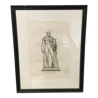 19th Century French Framed Engraving, Hercule Et Telephe by Pierre Bouillon
