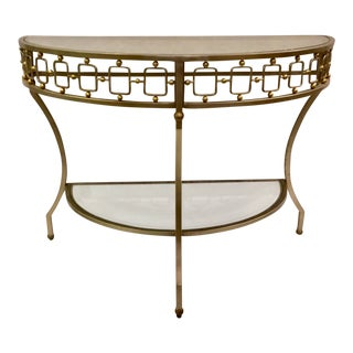 Modern Caracole My Better Half Console Table/Demi-Lune For Sale