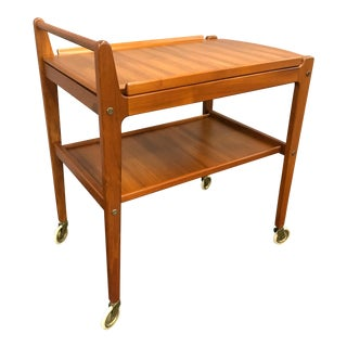 Erik Gustafsson Swedish Teak Bar Cart
