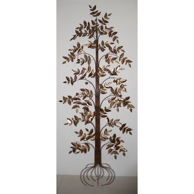 Curtis Jere Copper Toned Metal Tree Sculpture C.1970s For Sale In San Francisco - Image 6 of 7