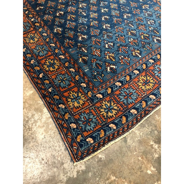 Antique Yerevan Rug with Modern Tribal Style, Antique Russian Armenian Rug For Sale - Image 9 of 10